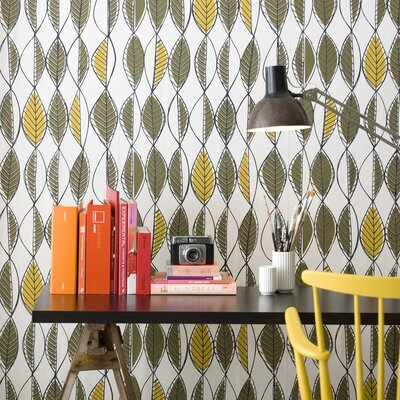 ferm LIVING Retro Leaves Wallpaper