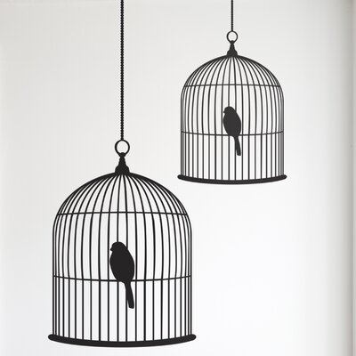 Large Birdcage Wall Decal