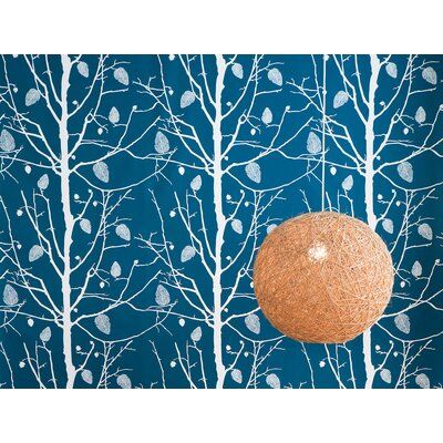 ferm LIVING Family Tree Wallsmart Wallpaper in Petrol