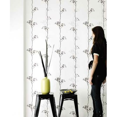 ferm LIVING Berry Black One Wallpaper