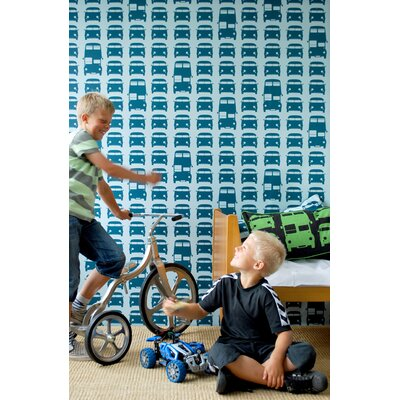 ferm LIVING Rush Hour Kids Wallpaper