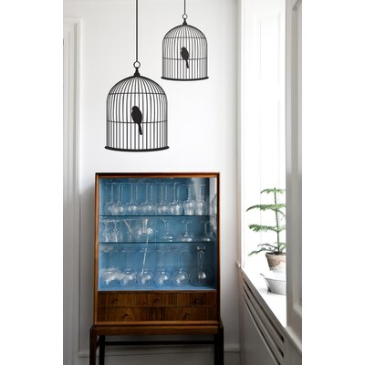 ferm LIVING Large Birdcage Wall Sticker