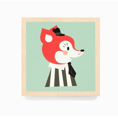 ferm LIVING Mr. Frank Fox Wooden Picture