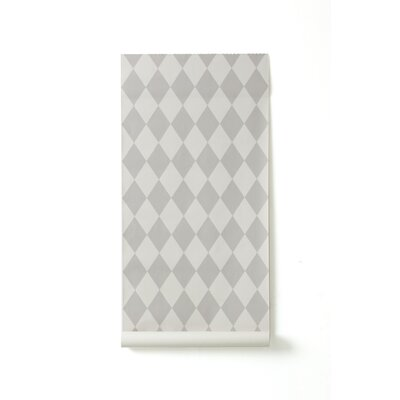 ferm LIVING Wallsmart Harlequin Wallpaper in Grey
