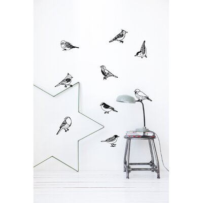 ferm LIVING Drawing Birds Wall Sticker