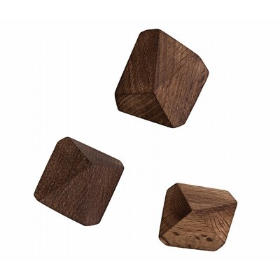 ferm LIVING Wooden Diamond Hooks (Set of 3)
