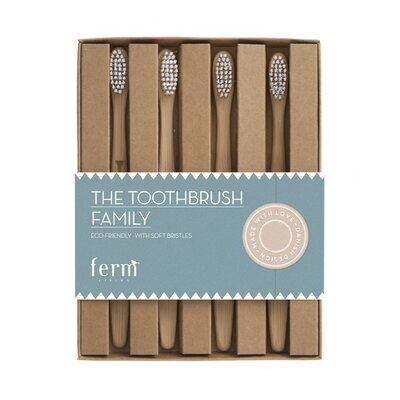 ferm LIVING Family Toothbrush (Set of 4)