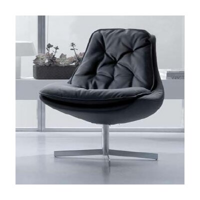 Bontempi Casa Daya Leather Chair and Ottoman