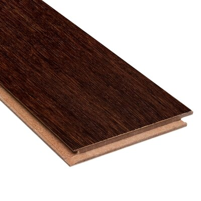 "Home Legend Renew and Restore  4-3/4"" Engineered Strand Woven Bamboo Flooring in Walnut"