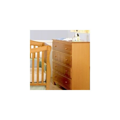 DaVinci Parker Two Piece Convertible Crib Set with Toddler Rail in Oak