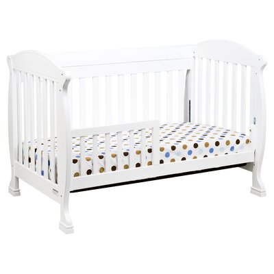 DaVinci Jacob 4-in-1 Convertible Crib with Toddler Rails in White
