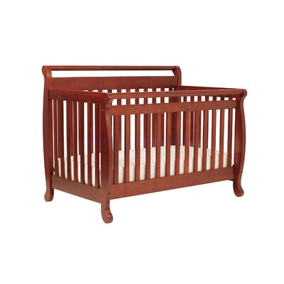 DaVinci Emily Three Piece Convertible Crib Nursery Set with Toddler Rail in Ebony Black
