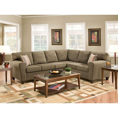 American Furniture Temperance Microfiber Sectional