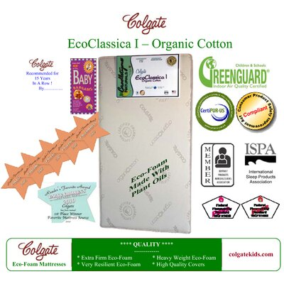 Colgate Eco Classica I Organic Cotton Foam Crib Mattress