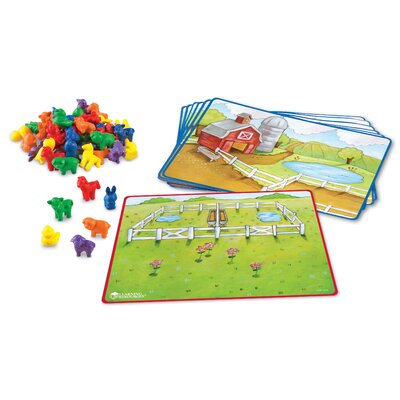 Learning Resources Friendly Farm Math Activity 78 Piece Set
