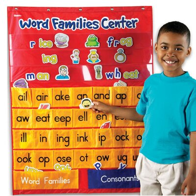 Learning Resources Word Families and Rhyming Center Pocket Chart