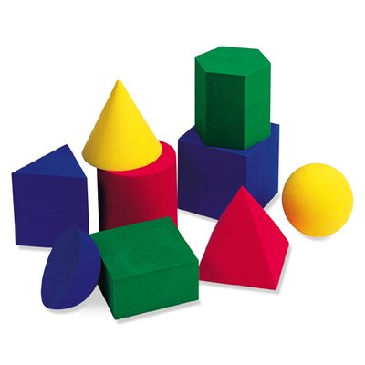 Learning Resources Soft Foam Large Geometric Shapes 9 Piece Set