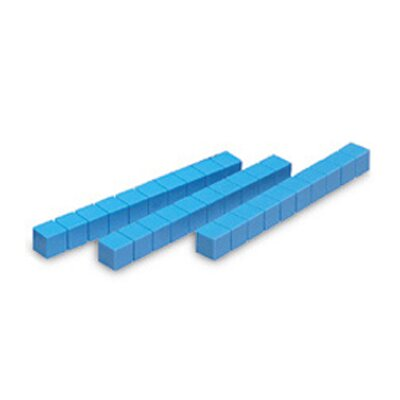 Learning Resources Base Ten Rods Plastic Blue 50 Pk