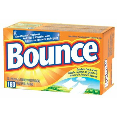 Proctor & Gamble Procter & Gamble - Bounce Fabric Softener Sheets Bounce Dryer Sheets Box/160 Use Outdoor Fresh: 608-80168 - bounce dryer sheets box/160 use outdoor fresh