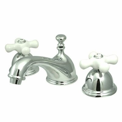 Elements of Design Widespread Bathroom Faucet with Double Porcelain ...