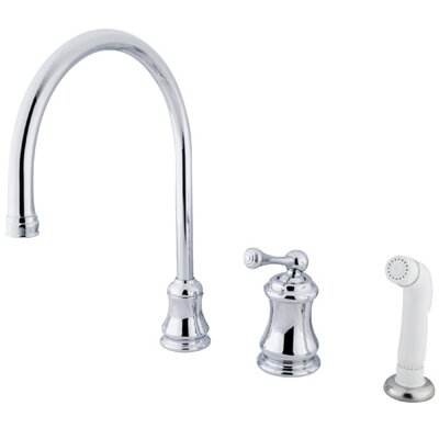 Elements of Design One Handle Widespread Kitchen Faucet with Buckingham Lever Handles