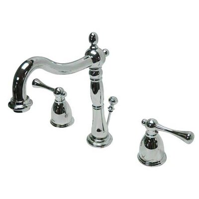 Elements of Design Elizabeth Widespread Bathroom Faucet with Double Lever Handles