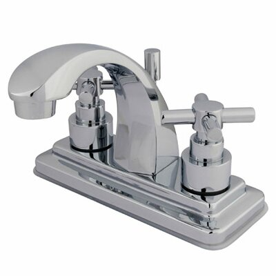 Elements of Design Tampa Centerset Bathroom Faucet with Double Cross Handles