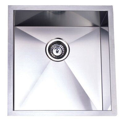 "Elements of Design 20.06"" x 19"" Towne Square Undermount Single Bowl Kitchen Sink"