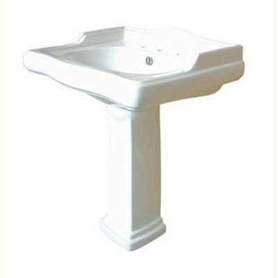 English Country Center Pedestal Sink - EVPB42