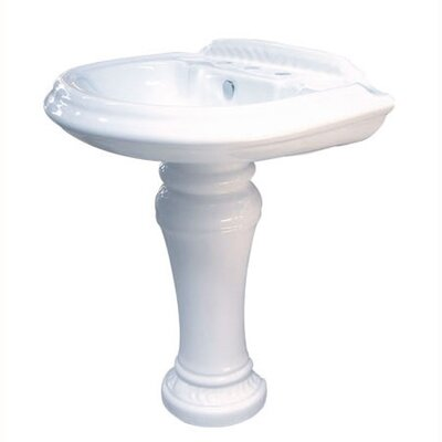 Naples Center Pedestal Sink - EVPB3298