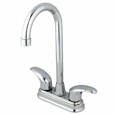 Elements of Design Daytona Double Handle Centerset Bar Faucet with Legacy Lever Handles
