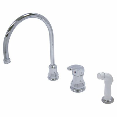 Elements of Design Single Handle Daytona Widespread Kitchen Faucet with Loop Handle and Side Spray