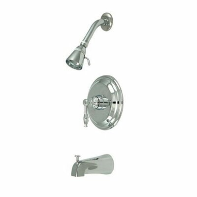 Elements of Design Volume Control Tub and Shower Faucet with Knight Lever Handles