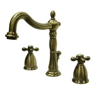Elements of Design Heritage Widespread Bathroom Faucet with Double Cross Handles