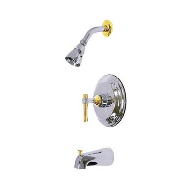 Elements of Design Milano Pressure Balanced Diverter Tub and Shower Faucet with Magellen Lever Handles