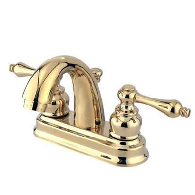 Elements of Design Centerset Bathroom Faucet with Double Lever Handles