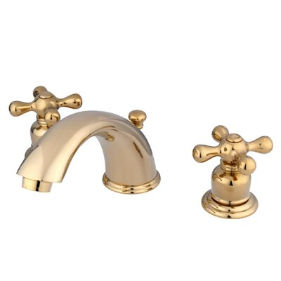 Elements of Design Magellan Widespread Bathroom Faucet with Double Cross Handles
