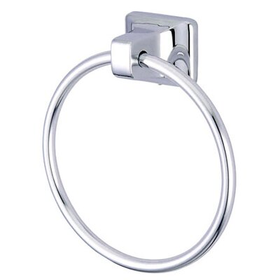 "Elements of Design American 7"" x 6"" Towel Ring in Chrome"