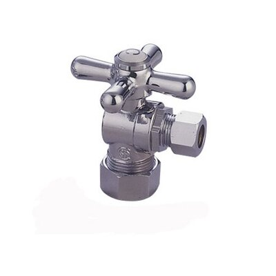 "Elements of Design 1.75"" Decorative Quarter Turn Valve with Cross Handle"
