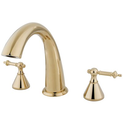 Elements of Design Double Handle Deck Mount Roman Tub Faucet Trim Templeton Lever Handle