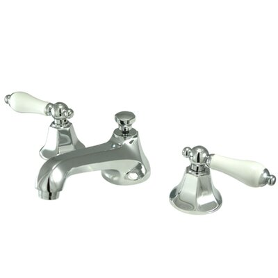 Elements of Design New York Widespread Bathroom Faucet with Double Porcelain Lever Handles