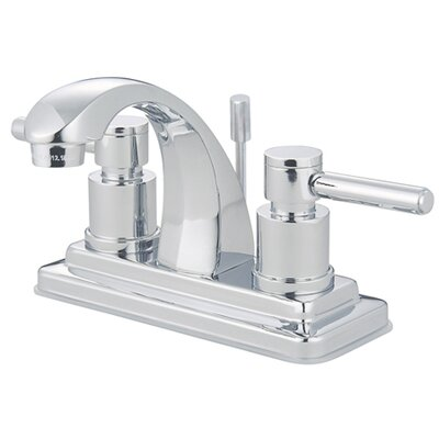 Elements of Design Tampa Centerset Bathroom Sink Faucet with Double Lever Handles