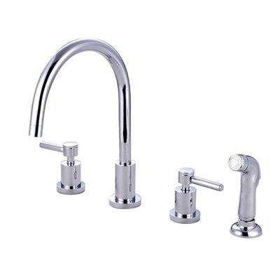 Double Handle Widespread Kitchen Faucet with Concord Lever Handle
