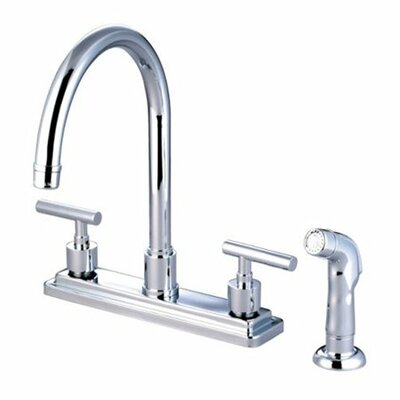Elements of Design Tampa Two Handle Centerset Kitchen Sink Faucet with Plastic Sprayer