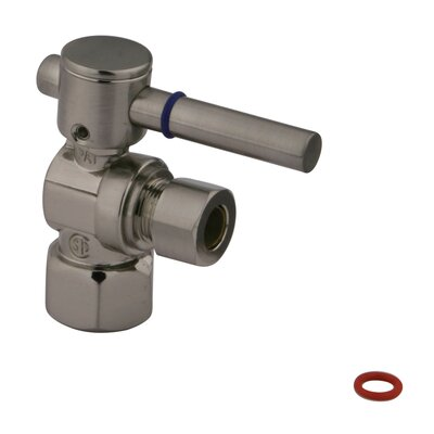 "Elements of Design Quarter Turn Ball Valve 1/2"" FIP X 3/8"" O.D. Compression"