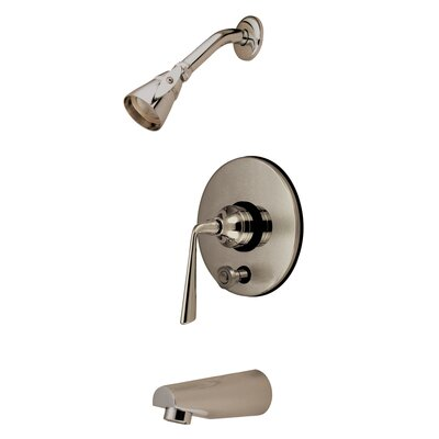 Elements of Design Silver Sage Tub and Shower Faucet Single Handle