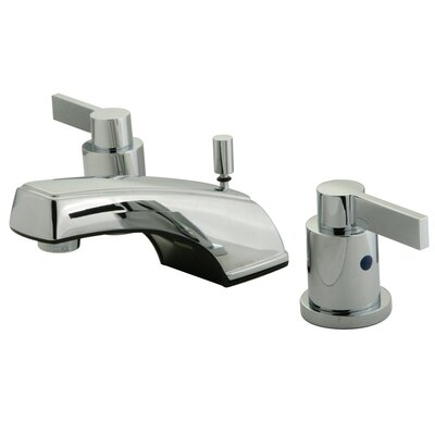 Elements of Design NuvoFusion Double Handle Widespread Bathroom Faucet with Brass Pop-Up