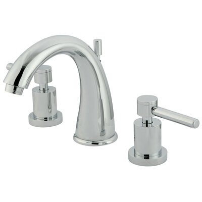 Elements of Design Concord Double Handle Widespread Bathroom Faucet With Brass Pop-up