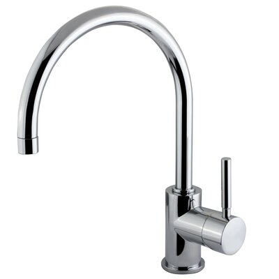 Elements of Design Concord Single Handle Single Hole Vessel Sink Faucet without Pop-Up and Plate