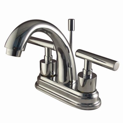 Elements of Design Manhattan Double Handle Centerset Bathroom Faucet with Brass Pop-Up
